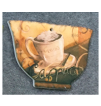Porta calientes diseño Taza de café beige de 14x20cm