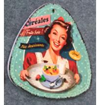 Porta calientes triangular diseño Mujer con charola de 20x20cm