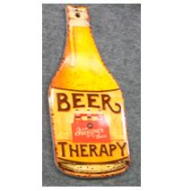 Porta calientes diseño Botella de cerveza de 8x30cm