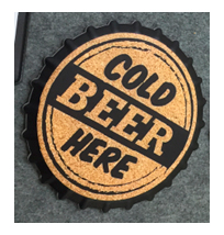 Porta calientes diseño corcholata de cerveza de 20x20cm