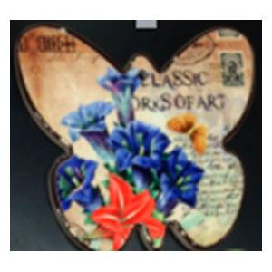 Porta calientes diseño mariposa con estampado de flores y mariposas de 17x19cm
