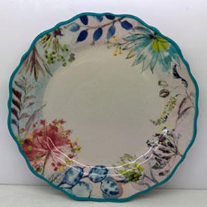 Plato de porcelana diseño flores de 28cm