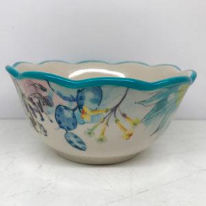Bowl de porcelana diseño flores de 16cm