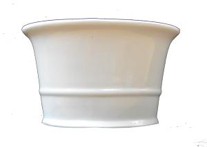 Maceta oval blanca de 25x16 cm