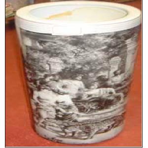 Porta sombrillas de cerámica blanca  45cm