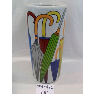 Paragüero de porcelana estampado sombrillas colores de 46cm