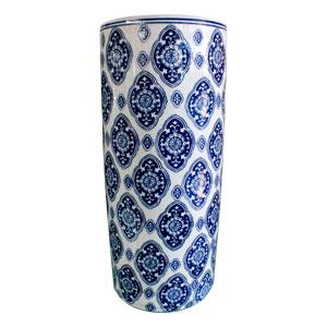 Paragüero de porcelana estampado mosaicos de 46cm