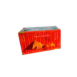 Maceta de cerámica roja diseño Contenedor de 13.7x7.4x7.3cm