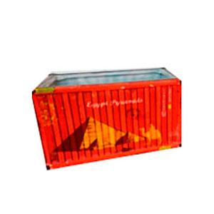 Maceta de cerámica roja diseño Contenedor de 18.5x10.3x9.3cm
