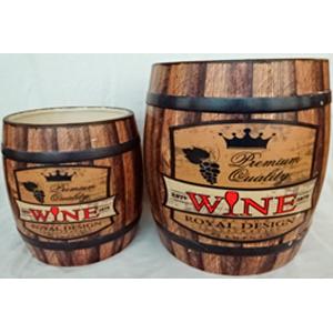 Maceta de cerámica diseño Barril de Vino de 19.5xH20cm