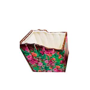 Maceta de cerámica diseño libros de 9.5x8.5x8.5cm