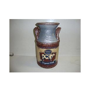Florero de cerámica diseño Bote de Leche de 13x24cm