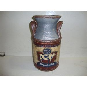 Florero de cerámica diseño Bote de Leche de 17x30cm