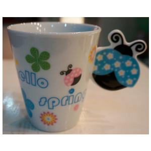 Taza para café Americano con asa diseño Catarina en tonos azules