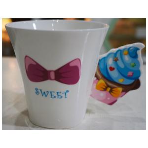 Taza para café Americano diseño Muffin en tonos azules