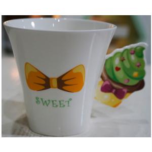 Taza para café Americano diseño Muffin en tonos verdes