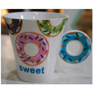 Taza para café Americano con asa diseño Rosquilla azul