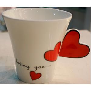 Taza para café Americano diseño corazones