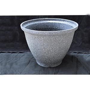 Maceta de fibra de vidrio gris de 40x33cm