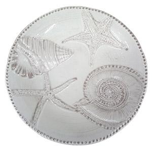 Bowl de melamina blanco con diseño de caracol de 35cm