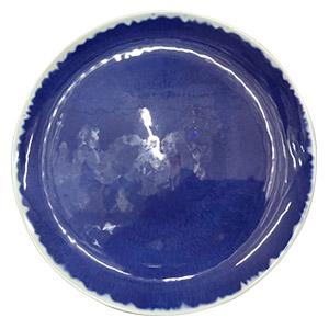 Plato de melamina azulc/gris de 27.5cm