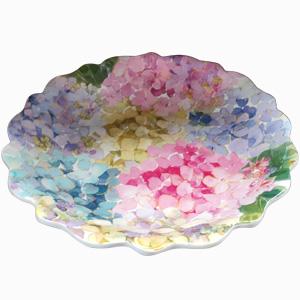 Plato de melamina diseño flores de colores de 30x30x2cm