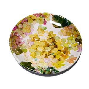 Plato de melamina con flores verdes de 23x23x3cm