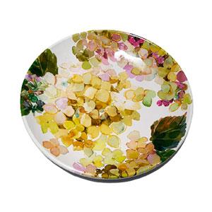 Plato de melamina con flores verdes de 28x28x3cm