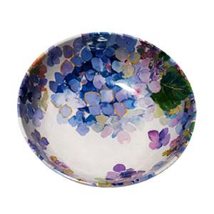 Tazón de melamina con flores azules de 19x19x6cm