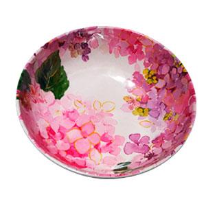 Tazón de melamina con flores rosas de 19x19x6cm