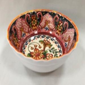 Tazón de melamina diseño mosaico rosa de 17x17x6cm