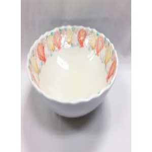 Tazón de melamina diseño conchas de colores de 21x21x4cm