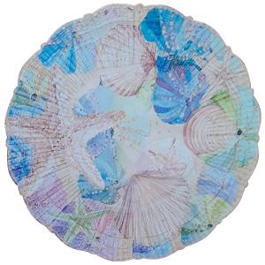 Plato de melamina diseño conchas de 23x23x6cm