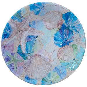 Tazón de melamina diseño conchas de colores de 19x19x5cm