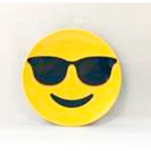 Plato de melamina diseño Emoji con lentes de 15x15x2cm
