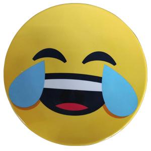 Plato de melamina diseño Emoji riendo de 15x15x2cm