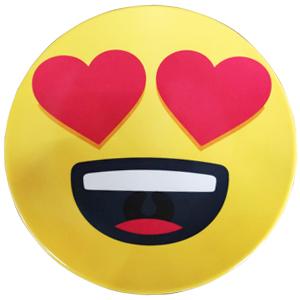 Plato de melamina diseño Emoji enamorado de 15x15x2cm