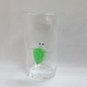 Vaso  con diseño de tortuga verde de 9x9x14cm