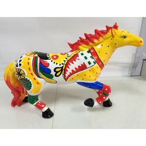 Figura de caballo a colores de 36cm