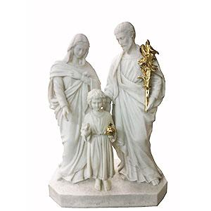 Sagrada Familia de poliresina blanco de 48x24.5x66cm