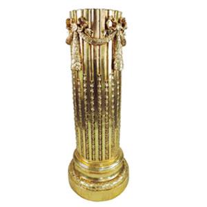 Pedestal dorado de 38.5x38.5x105cm