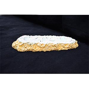 Candelabro para 3 T-light diseño marmol blancos de 33x11x4.5cm