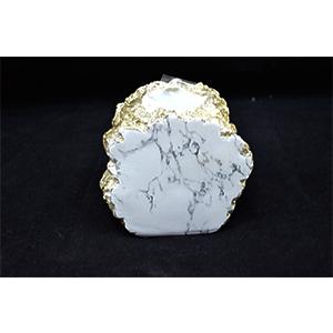 Candelabro para T-light diseño marmol blancos de 11x7x10cm