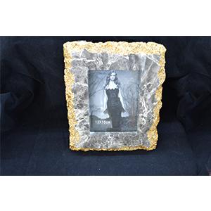 Portarretratos diseño marmól gris de 24x3x29/13x18x3cm
