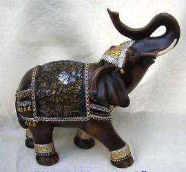 Elefante con decoraciones de cristal de 26cm