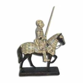 Caballero con armadura en caballo
