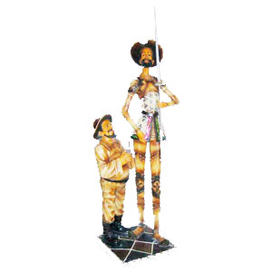 Don quijote y sancho panza de 60cm