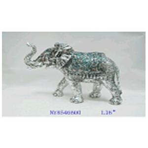 Elefante plateada con incrustaciones de 36x22.5x24cm