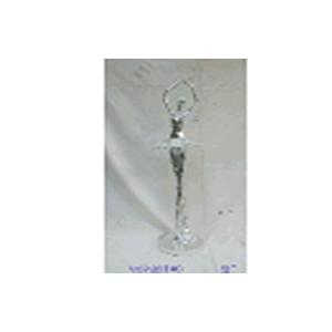 Escultura de Bailarina electroplateada con espejos de 80x18.5x16cm