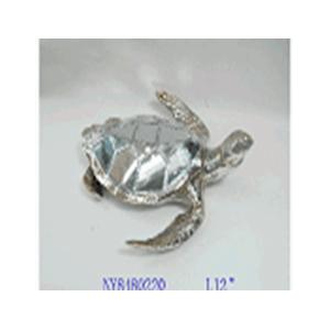 Figura de tortuga de resina electroplateada de 30x30x19.1cm